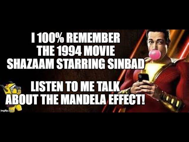 Mandela Effect (Actor Zachary Levi Who Plays Shazam Says He